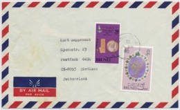 Brunei - In Die Schweiz Gelaufener Brief / Brunei - Letter Used In Switzerland - Brunei (1984-...)