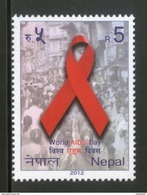 Nepal 2012 World AIDS Day Health Disease Emblem 1v MNH # 1265 - Nepal