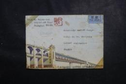 CHINE - Enveloppe ( Devant ) Illustrée De Shangaï Par Avion Pour La France - L 46034 - Cartas