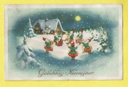 * Fantaisie - Fantasy - Fantasie * (Colorprint 3305/1) Bonne Année, New Year, Gnome, Dwarf, Lutin, Champignon, Mushroom - Nouvel An