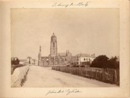 LE BOURG DE BATZ (Finistére)- Place De L'église - 16.5 X 12 Cm - Autour De 1900 - Lieux