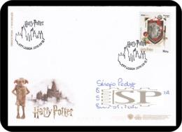 Portugal 2019 Special Cancel Castle Hogwarts Harry Potter Gryffindor Cinema Movie Literature Kino Films Castelo - Kino