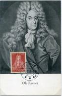 48847  Danmark, Maximum 1951 Aarhus, 21.7.1951 Astronom Olle Romer, Painting Of Jacob Coning, - Cartoline Maximum