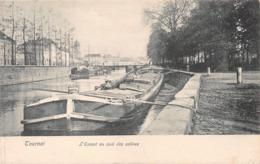 Tournai - L'Escaut Au Quai Des Salines (péniches) - 1908 - Tournai