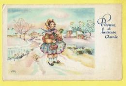 * Fantaisie - Fantasy - Fantasie * (Editions Superluxe Paris) Bonne Année, New Year, Enfant, Snow, Neige, Old - Nouvel An