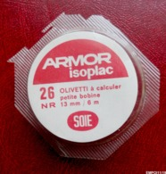 Ruban ARMOR ISOPLAC Pour Ancienne Machine à Calculer OLIVETTI - Petite Bobine - Soie - Andere Sammlungen