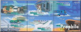 Hongkong 843-848 Sechserblock (kompl.Ausg.) Postfrisch 1998 Eröffnung Flughafen Check Lap Kok - 1997-... Région Administrative Chinoise