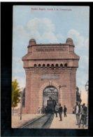 ROMANIA Podul Regele Carol I La Cernavoda Train, Zug 1914 Old Postcard - Romania