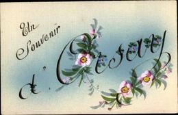 Handgemalt Cp Orsay Essonne, Montage, Souvenir, Fleurs - France