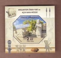 AC -  TURKEY BLOCK STAMP  - ARSLANTEPE ARCHEOLOGICAL SITE AND OPEN - AIR MUSEUM MALATYA MNH 06 NOVEMBER 2019 - 1921-... Republiek