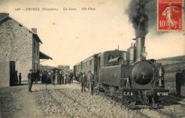 Primel - La Gare - Train Locomotive Machine - Ligne Chemin De Fer Finistère - Belle Animation - Primel