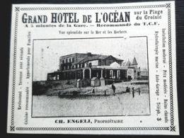 CROISIC PLAGE GRAND HOTEL DE L'OCEAN  ENGELI PROPRIETAIRE 1914 PUBLICITE ANCIENNE HOTELLERIE LOIRE ATLANTIQUE 44 - Advertising