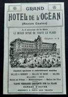 PORNICHET HOTEL DE L'OCEAN ANCIEN CASINO PUBLICITE ANCIENNE 1914 LOIRE ATLANTIQUE 44 - Reclame