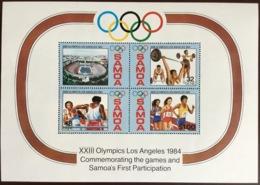 Samoa 1984 Olympic Games Minisheet MNH - Samoa