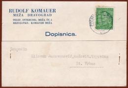 YUGOSLAVIA-SLOVENIA, PREVALJE-MARIBOR 33 TPO RAILWAY CANCELLATION,MEZA-DRAVOGRAD 1931 RARE!!!!!!!!!!! - 1931-1941 Regno Di Jugoslavia