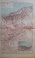 CARTE DU DÉPARTEMENT D'ORAN Avec Plan D'Oran Et Ses Environs1930 - Carte Geographique