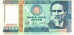 Peru P.140  10000 Intis 1988 Unc - Pérou