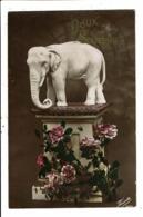 CPA-Carte Postale-France- Doux Souvenirs Un éléphant Sur Un  Piédestal  En 1916-VM8639 - Autres