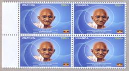 UGANDA 2019 New Stamp Issue GANDHI Birth Anniversary On Registered Letter By Airmail W/ 4-block OUGANDA - Oeganda (1962-...)