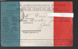 (guerre 14-18) Carte De    FRANCHISE MILITAIRE  Tricolore   (PPP20980) - Lettere In Franchigia Militare