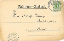 DR Brief EF Mi.46 + ZS Bücher Zettel Bahnpost Frankfurt Main ZUG 12 Nach Basel Schweiz - Allemagne