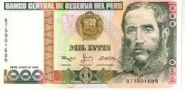 Peru P.136b  1000 Intis 1988 Unc - Peru