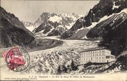 Cp Chamonix Mont Blanc Haute Savoie, La Mer De Glace Et L'Hotel De Montanvert - Frankreich