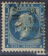 DO 15116 NOORWEGEN GESTEMPELD YVERT NR 4 ZIE SCAN - Norvège