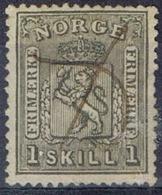 DO 15118 NOORWEGEN GESTEMPELD YVERT NR 11 ZIE SCAN - Norvège