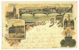 EL 5 - 17043 BASEL, Litho, Switzerland - Old Postcard - Used - 1896 - BS Basle-Town