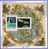 Bolivia  1992. Space. Communication Satellites.  MNH - América Del Sur