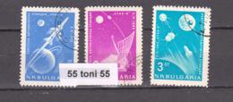 1963 Space COSMOS – Luna 4  Mi 1388/90  3v.-used(O) Bulgaria/Bulgarie - Europa