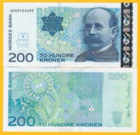 Norway 200 Kroner P-50g 2014 UNC Banknote - Noorwegen