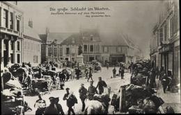 Cp Ham Somme, Deutsche Kolonnen Auf Dem Marktplatz - Other Municipalities