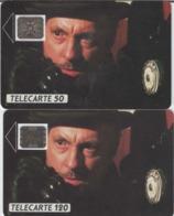 FRANCE - 50 Unités Et 120 Unités - MICHEL SERRAULT TELEPHONE ET CINEMA  - Télécartes Utilisées - 1988