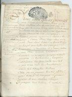 CACHET DE GENERALITE DE TOURS Sur PARCHEMIN DE 20 PAGES - 1726 - Cachets Généralité