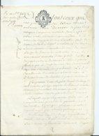 CACHET DE GENERALITE DE TOURS Sur PARCHEMIN DE 12PAGES - 1787 - Cachets Généralité