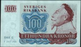 SWEDEN - 100 Kronor 1968 {Sveriges Riksbank} UNC P.54 A - Svezia
