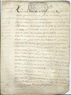 CACHET DE GENERALITE DE TOURS Sur PARCHEMIN DE 4 PAGES - 1712 - Cachets Généralité
