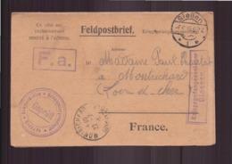 Allemagne Carte En Franchise Militaire Prisonnier De Guerre Du 28 Juin 1918 De Guiessen Pour Montrichard - Covers & Documents