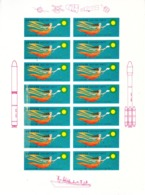 China Space Flight Vigette Full Sheet - Asia