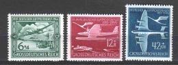 Germany Reich 1944 Mi 866-868 MNH - Germany
