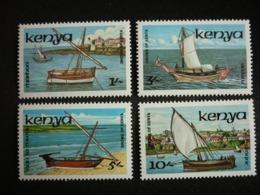 Kenya, 1986 Ships Scott #384-387 MNH Cv. 13,15$ - Kenia (1963-...)
