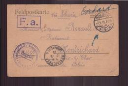 Allemagne Carte En Franchise Militaire Prisonnier De Guerre Du 18 Avril 1915 De Giessen Pour Montrichard - Covers & Documents