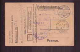 Allemagne Carte En Franchise Militaire Prisonnier De Guerre Du 27 Février 1916 De Meschede Pour Montrichard - Covers & Documents