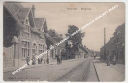 HOEVENEN 1911 / DORPSZICHT / TRAMWAY / MOOIE ANIMATIE MAN MET PAARD - Stabrök