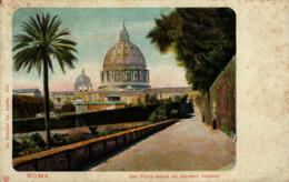 ROMA - San Pietro Veduto Dal Giaedino Vaticano - San Pietro