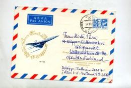 Lettre Entiere Femme Cachet Illustré Tupolev - 1923-1991 URSS