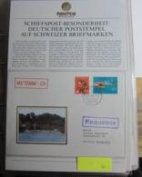 """Schiffspost - Besonderheit, Deutscher Poststempel Auf Schweizer Marken. MS """" DIANA """" - CH ( Hamburg Flughafen 22333 ) - Altri"""