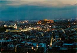 Grèce - Athènes - Athína - Vue Générale Aérienne - Vue De Nuit - Carte Neuve - Voir Scans Recto-Verso - Grèce